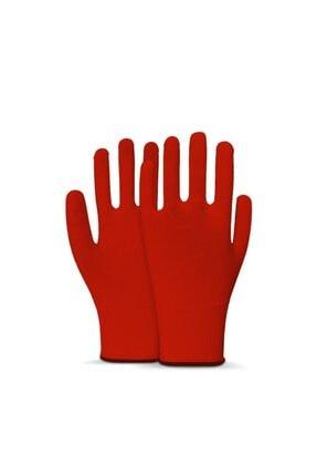 Picture of 1 Çift Kırmızı Örme Polyester Yıkanabilir Koruyucu Kasiyer Eldiveni