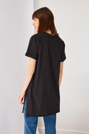 Trendyol Modest Siyah Basic Tunik T-shirt TCTSS21TN0056 2