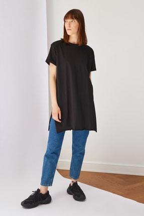 Trendyol Modest Siyah Basic Tunik T-shirt TCTSS21TN0056 3