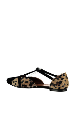 Fox Shoes Leopar Siyah Kadın Ayakkabı B726881802 3