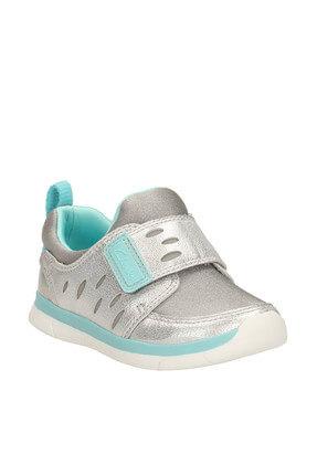 CLARKS Metalik Hakiki Deri Ath Cool Fst Çocuk Ayakkabı 261174567 0