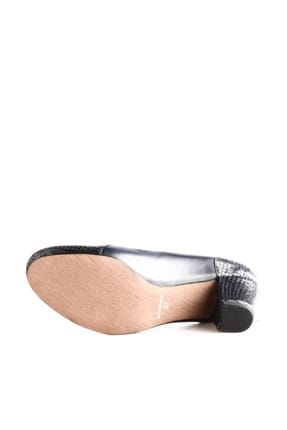 Dgn Lacivert Petek Lacivert Kadın Klasik Topuklu Ayakkabı 258-148 3