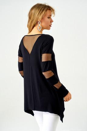 Boutiquen Kadın Siyah Kolları ve Sırtı Tül Detaylı Tunik 10021 10021 2