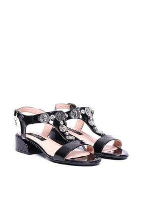 Kuum Kz1613-1 Siyah Kadın Deri Sandalet 100387812 0
