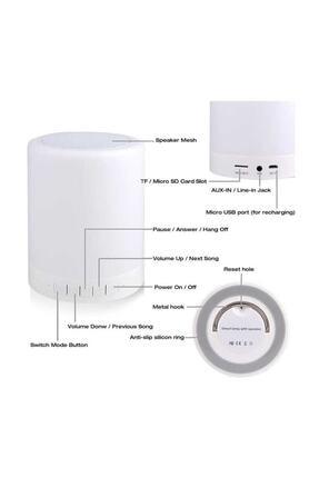 Escom Renk Değiştiren Led Işıklı Taşınabilir Kablosuz Bluetooth Hoparlör 4