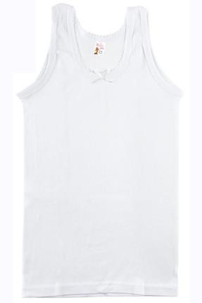 Namaldı Kız Çocuk Beyaz 6'lı Paket  Ribana Atlet ELF568N414CCM6 0