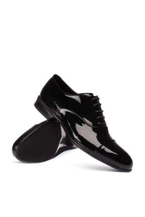 Deery Hakiki Rugan Siyah Klasik Erkek Ayakkabi 01026MSYHC01 2