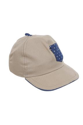 Bej Erkek Bebek Şapka resmi