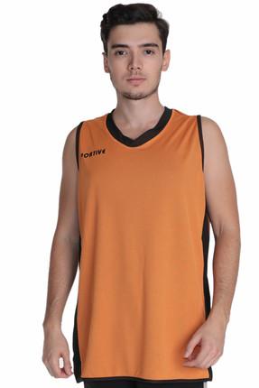 Basics Erkek Çift Taraflı V Yaka Siyah-Basketbol Forması resmi