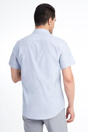 Kiğılı Kısa Kol Regular Fit Çizgili Gömlek 3