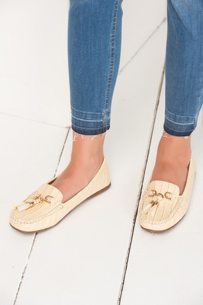 تصویر از Bej Kadın Loafer Ayakkabı