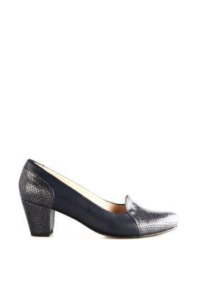 Dgn Lacivert Petek Lacivert Kadın Klasik Topuklu Ayakkabı 258-148 1