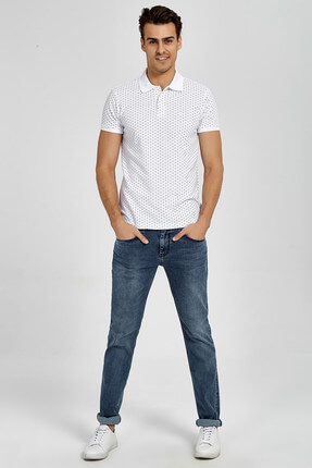 Ltb Erkek  Beyaz Polo Yaka T-Shirt 012188434161430000 1