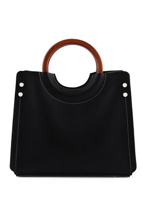 Laura Ashley Kadın Ahşap Askılı Çanta Siyah 2