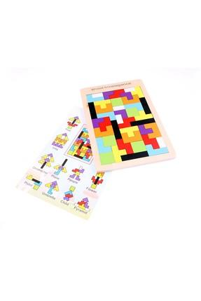 AKADEMİLOJİ Ahşap Blok Tetris Oyunu / 1