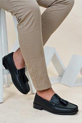 Ayakkabı Bahçesi Erkek Siyah  Corcik Model  Cilt  Klasik Ayakkabı 1