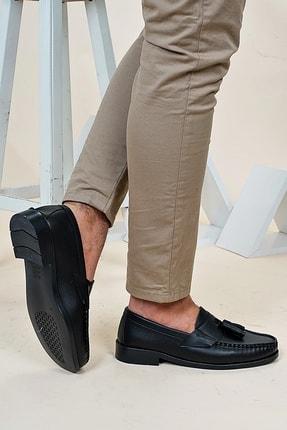 Ayakkabı Bahçesi Erkek Siyah  Corcik Model  Cilt  Klasik Ayakkabı 4
