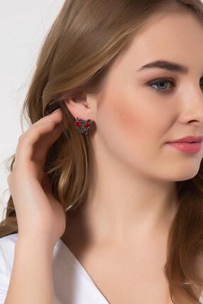 Modex Kadın Markazit Taşlı Baykuş Küpe UKP9502 0