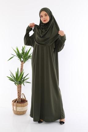 medipek Kolay Giyilebilen Tek Parça Namaz Elbisesi Haki 1