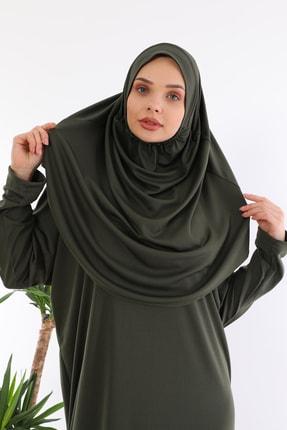 medipek Kolay Giyilebilen Tek Parça Namaz Elbisesi Haki 3
