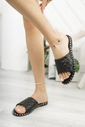Moda Frato Kadın Siyah Terlik 2