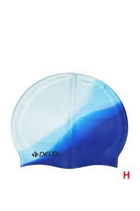 Delta Silikon Bone Yüzücü Havuz Deniz Bonesi (Gökkuşağı Desenli) 0