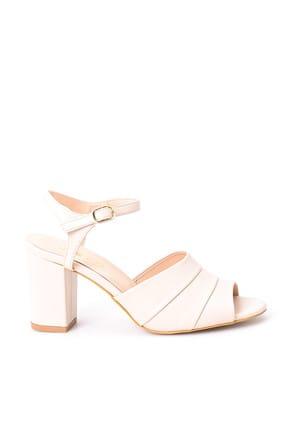 Bej Kadın Topuklu Ayakkabı 19SFE284518