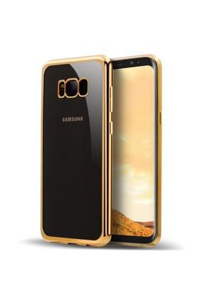 Microsonic Samsung Galaxy S8 Plus Kılıf Flexi Delux Gold 0