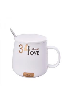 Karaca Beyaz Küçük Kahve Mug 0