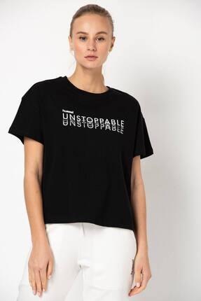 HUMMEL HMLLIKHA S/S Siyah Kadın T-Shirt 101120536 0