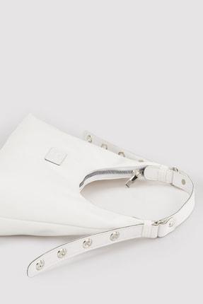 Housebags Kadın Beyaz Baguette Çanta 205 3