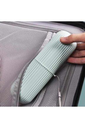 Ecoform Çok Amaçlı Seyahat Tipi Diş Fırçası Kabı Makyaj Malzemesi Saklama Kutusu Gri Renk 0