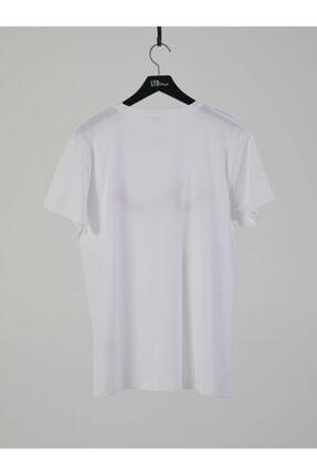 Ltb Erkek  Beyaz  Baskılı  Kısa Kol Bisiklet Yaka T-Shirt 012208415960890000 1