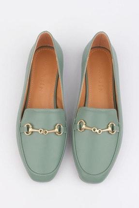 Marjin Kadın Yeşil Loafer Ayakkabı Bekla 2