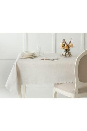 English Home Daina Polyester Masa Örtüsü 150x200 Cm Taş Rengi 0