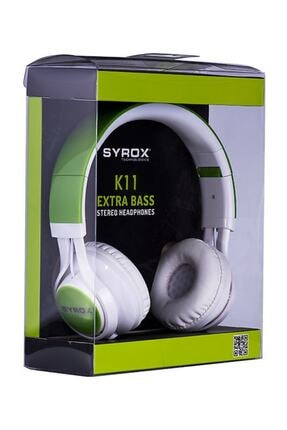 Syrox Mikrofonlu Stereo Kablolu Kulak Üstü Kulaklık - Syx - K11 - 0