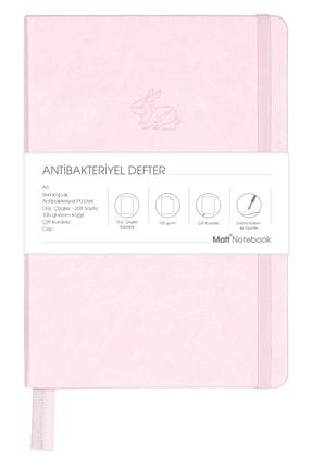 Matt Notebook A5 Antibakteriyel Defter Düz,çizgisiz Pembe 0