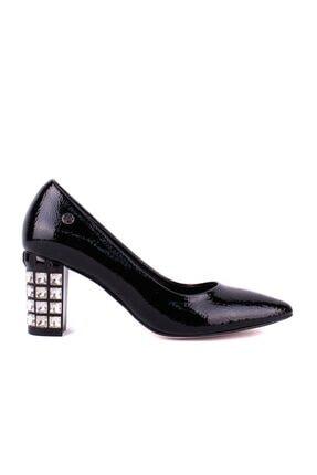 - Siyah Rugan Kadın Topuklu Ayakkabı resmi