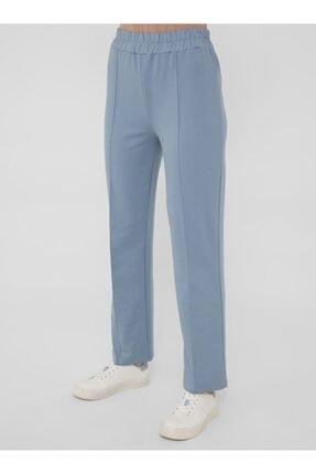 Refka Kadın Mavi Uzun Kollu Basic Eşofman Takımı 4