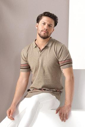 Ferraro Erkek Bej Polo Yaka Düğmeli Pamuk Triko Tshirt 2