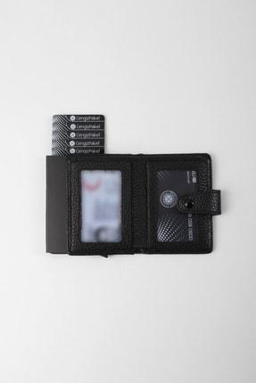 Cengiz Pakel Gerçek Deri Mekanizmalı Siyah Kartlık-cüzdan 2
