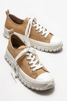 Elle Kadın Camel Sneaker 1
