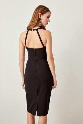 TRENDYOLMİLLA Siyah Yaka Detaylı  Elbise TPRAW19FZ0018 3