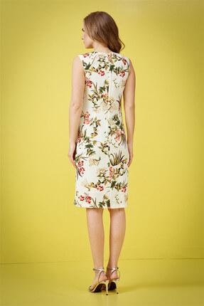 Journey Kadın Çiçekli Krem Elbise 18YELB949 3