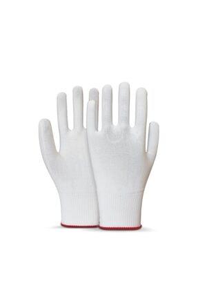 Picture of 1 Çift Beyaz Örme Polyester Yıkanabilir Koruyucu Kasiyer Eldiveni