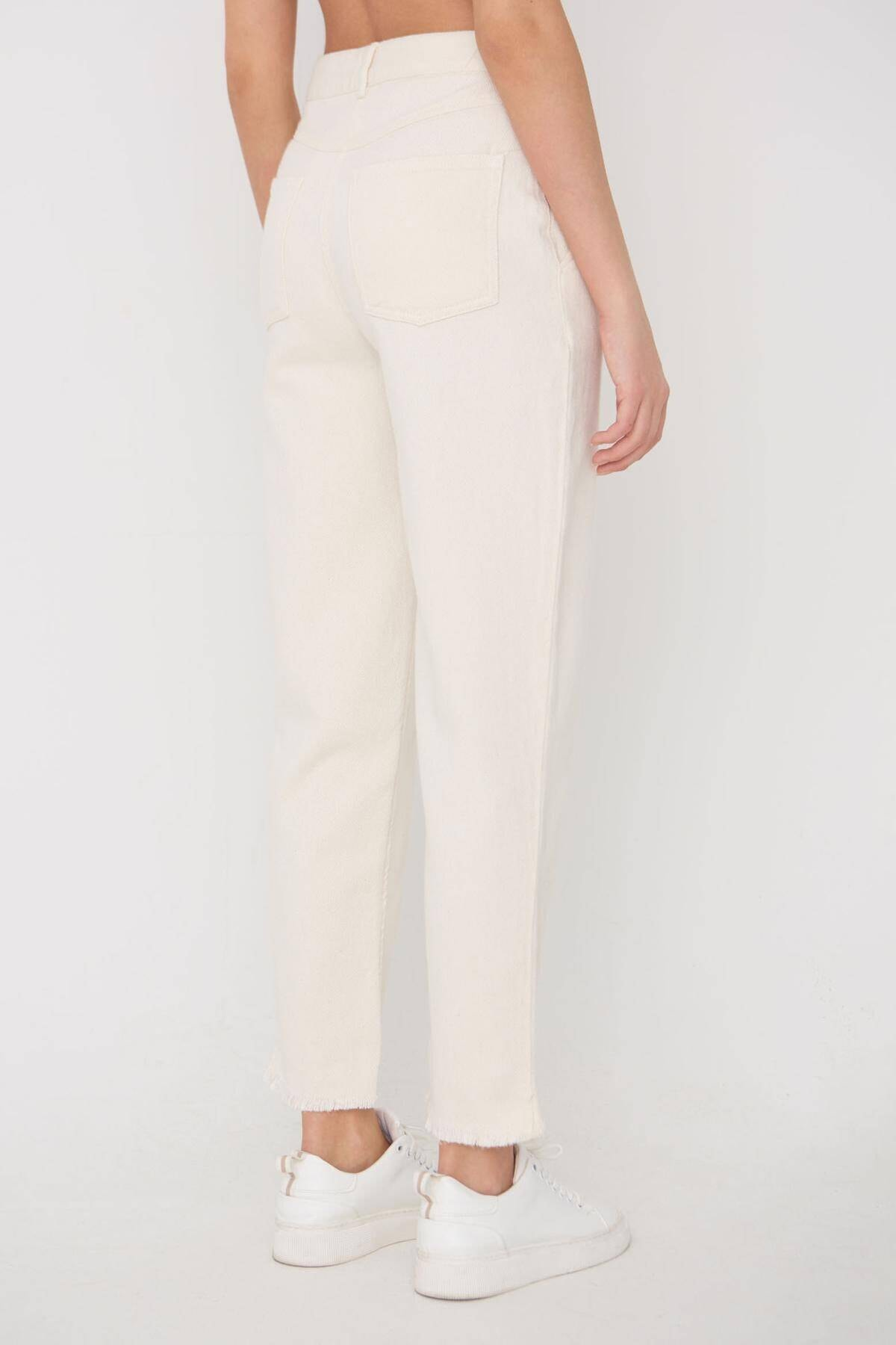 Addax Kadın Ham Paça Detaylı Pantolon Pn11-0049 - K8 Adx-0000023876 4