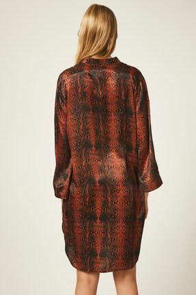 Happiness İst. Kadın Kiremit Yılan Derisi Desenli Elbise FN00354 1