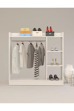 Remaks Pratik 3 Raflı Elbise Dolabı - Beyaz 3