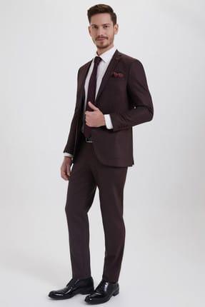 Hatemoğlu HTML Desenli Slim Fit Takım Elbise 33202018C357 1
