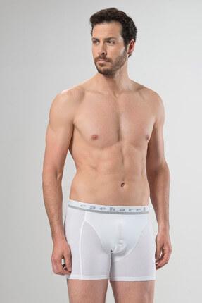 تصویر از Erkek Beyaz Boxer %95 Pamuk %5 Elestan 1316